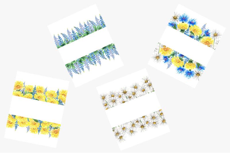watercolor-wildflowers-frames