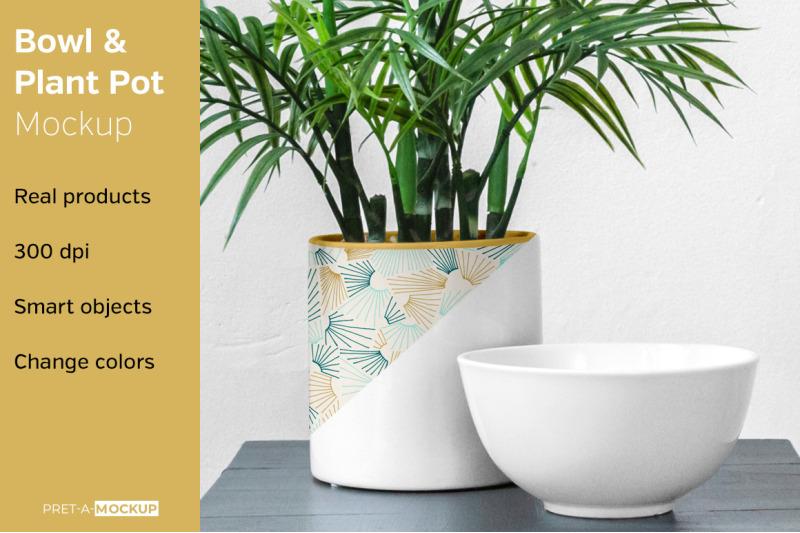 Free Bowl and Pot Mockup (PSD Mockups)