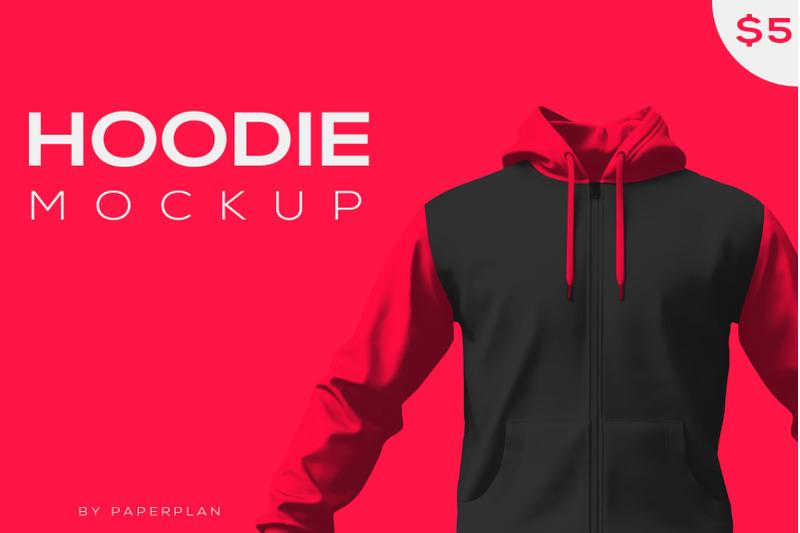 Free Hoodie jacket Mockup (PSD Mockups)