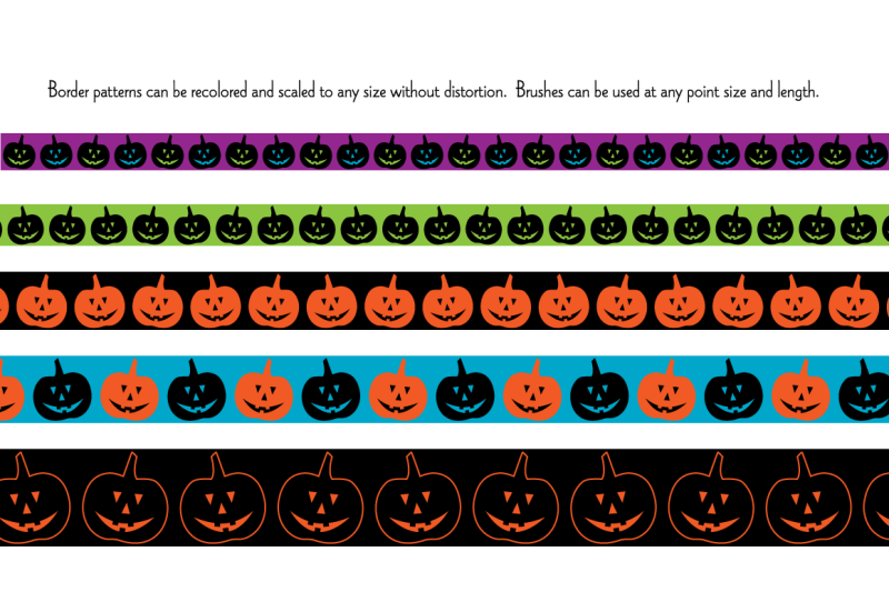 seamless-bright-halloween-border-patterns
