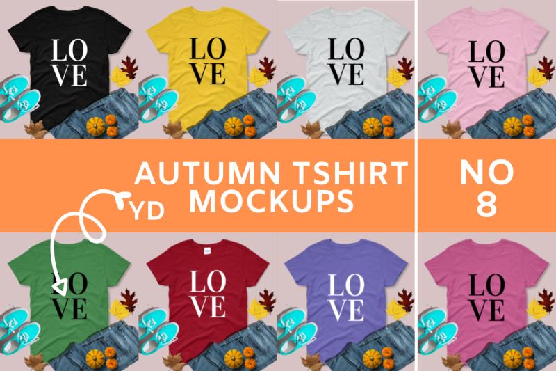 Free Autumn/Fall T shirt Mock-ups - 8 (PSD Mockups)