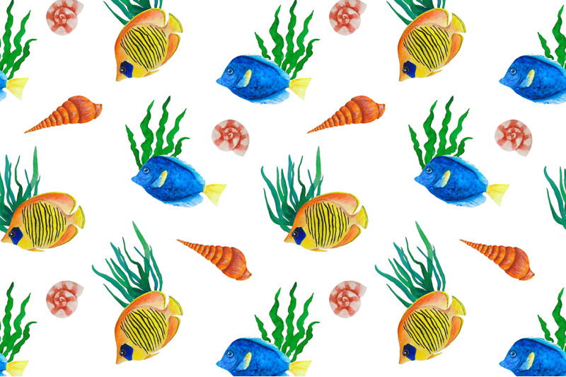 watercolor-fish-sea-pattern