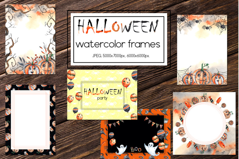 halloween-party-watercolor-collection