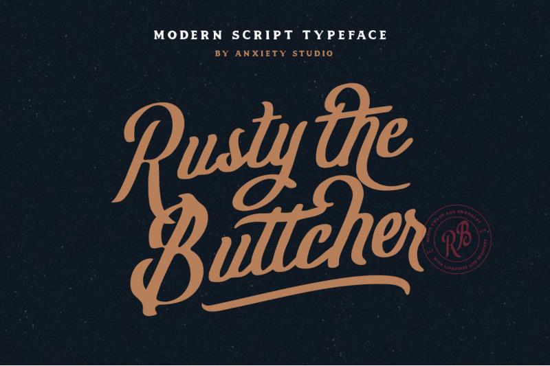 rusty-the-buttcher-modern-script