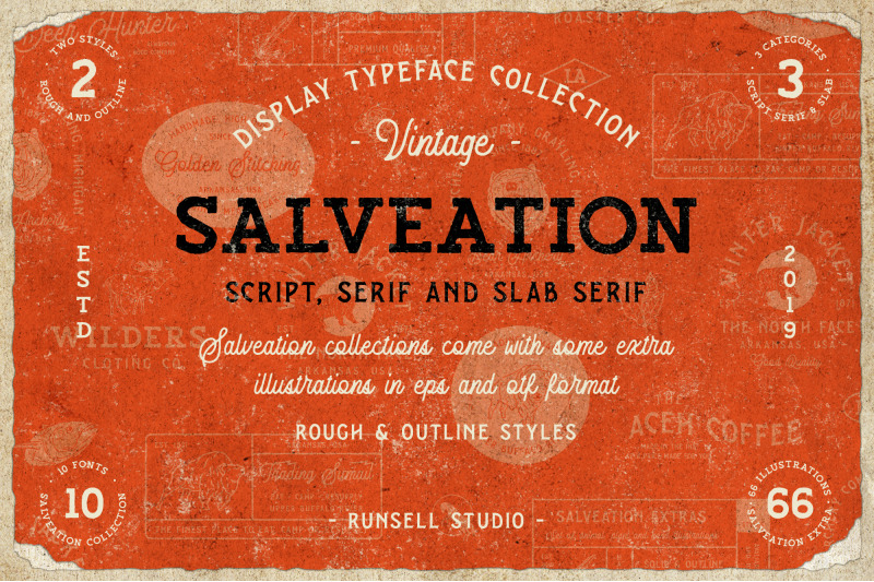 salveation-font-collection