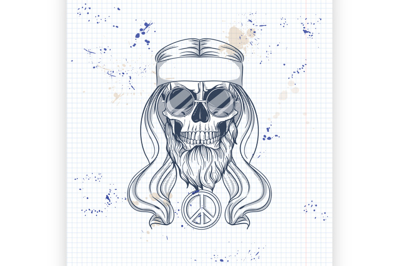 hippie-skull-with-hair