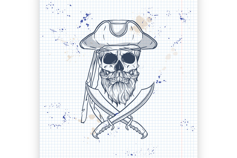 sketch-pirate-skull-with-sword