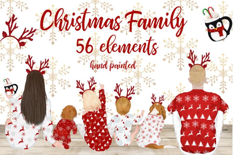 christmas-clipart-christmas-family-movie-night-xmas-pajamas
