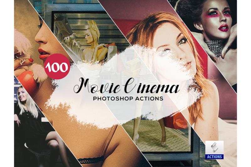 100-movie-cinema-photoshop-actions