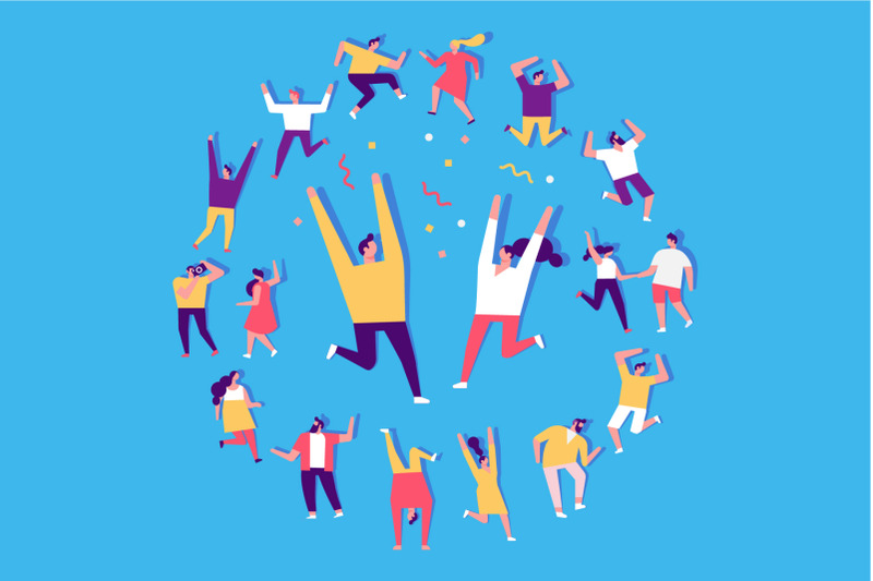 party-people-flat-vector-set