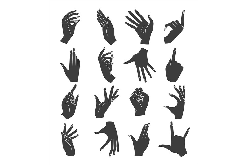 woman-hands-gestures-silhouettes