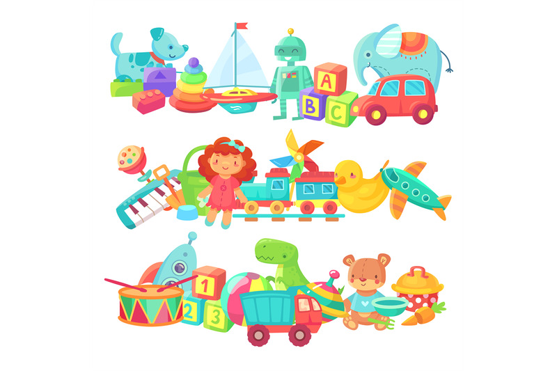 toy-piles-kids-toys-groups-cartoon-baby-doll-and-train-ball-and-car