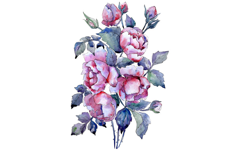 bouquet-of-roses-flower-watercolor-png