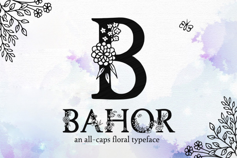 bahor-hand-made-floral-typeface