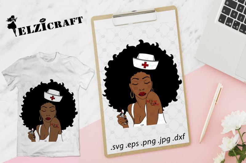afro-woman-nurse-life-svg-cut-file