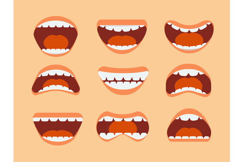 funny-cartoon-human-mouth-teeth-and-tongue-with-different-expressions