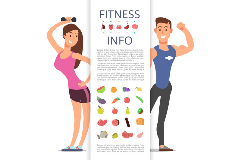 fitness-banner-flyer-template-sports-cartoon-character