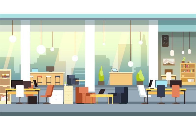 coworking-interior-empty-open-space-office-workspace-vector-backgrou
