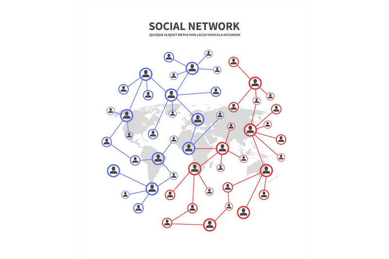 people-socia-networks-and-telecommunications-human-links-vector-conce