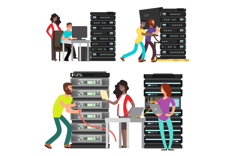 team-of-computer-engineers-working-in-server-room