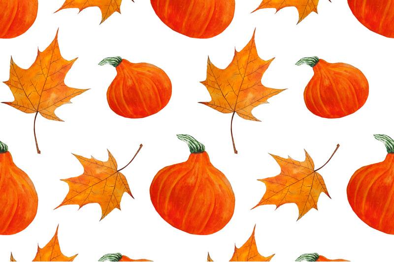 pattern-seamless-autumn-watercolor