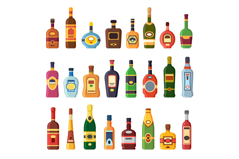 alcohol-bottles-alcoholic-liquor-drink-bottle-with-vodka-cognac-and