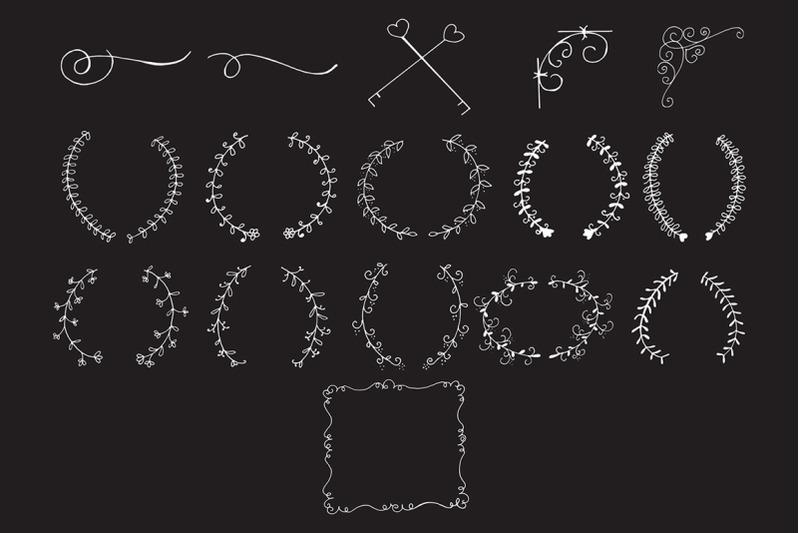 45-hand-design-element-cliparts-ver-7