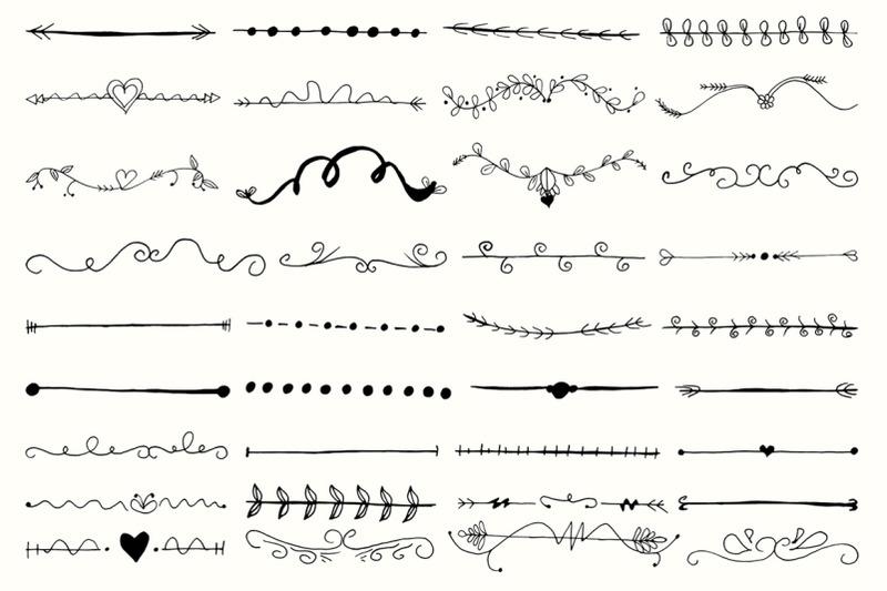 35-hand-drawn-design-element-cliparts-ver-3