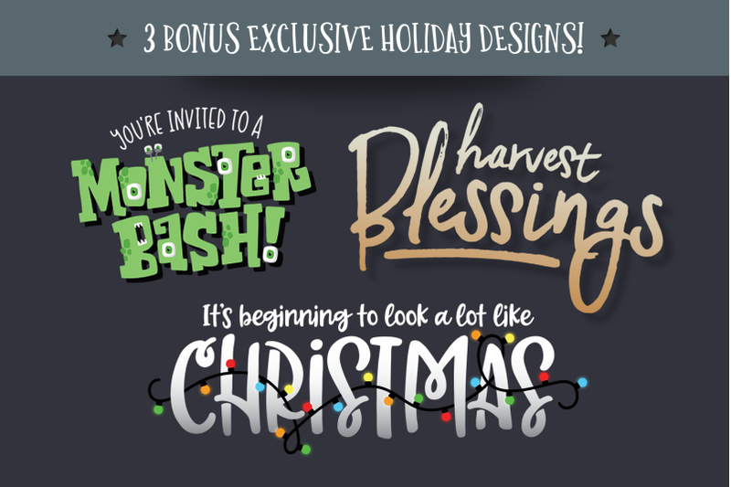 holiday-font-pack