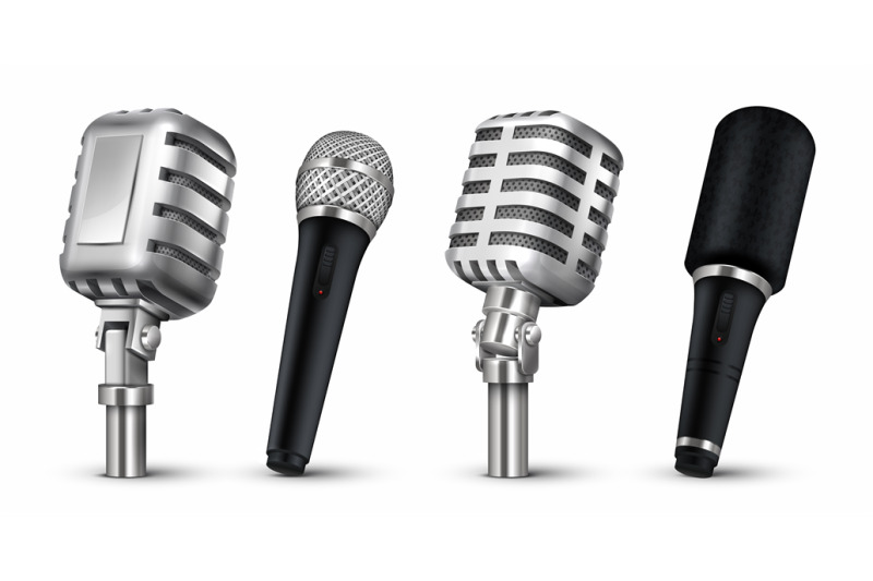 realistic-microphones-3d-studio-and-scene-audio-equipment-vintage-an