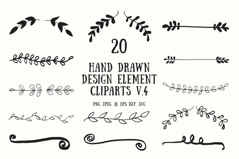 hand-drawn-design-element-cliparts-ver-4