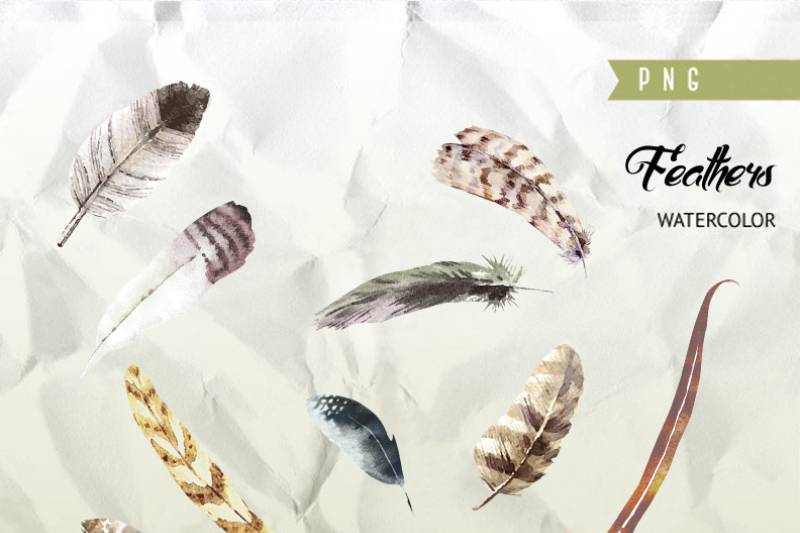 watercolor-feather-diy-boho-style