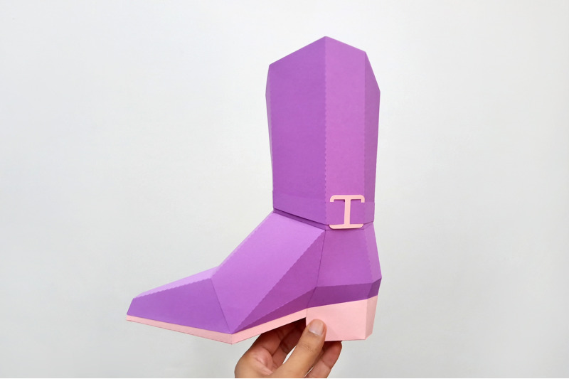 diy-cowgirl-boots-3d-papercraft