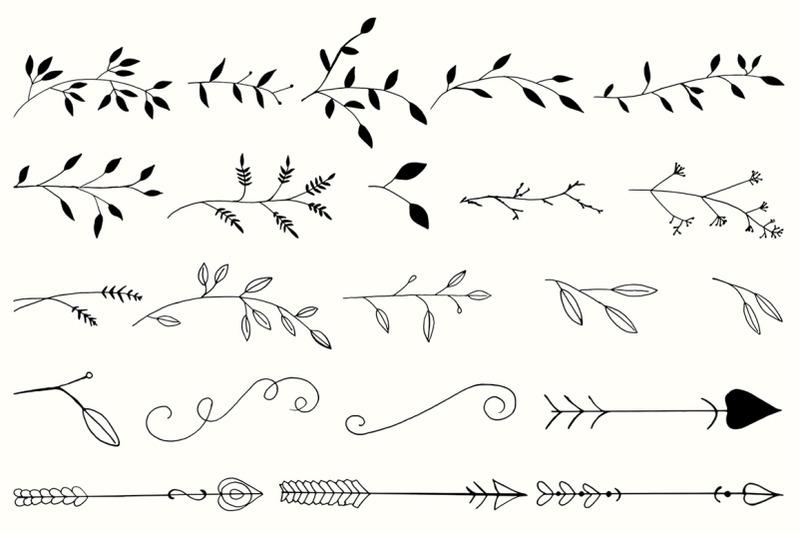 20-handmade-design-element-cliparts-ver-6