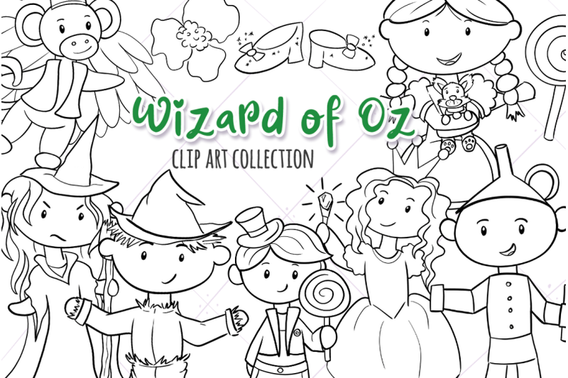 wizard-of-oz-digital-stamps