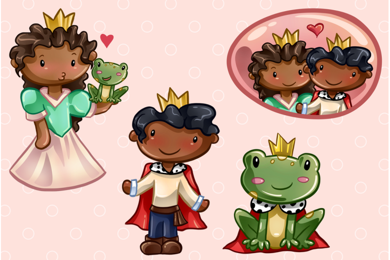 princess-and-the-frog-clip-art-collection