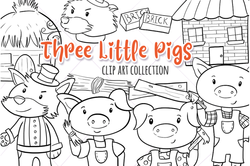 three-little-pigs-digital-stamps