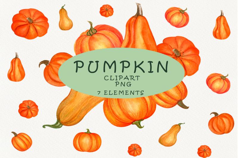 pumpkin-watercolor-clipart