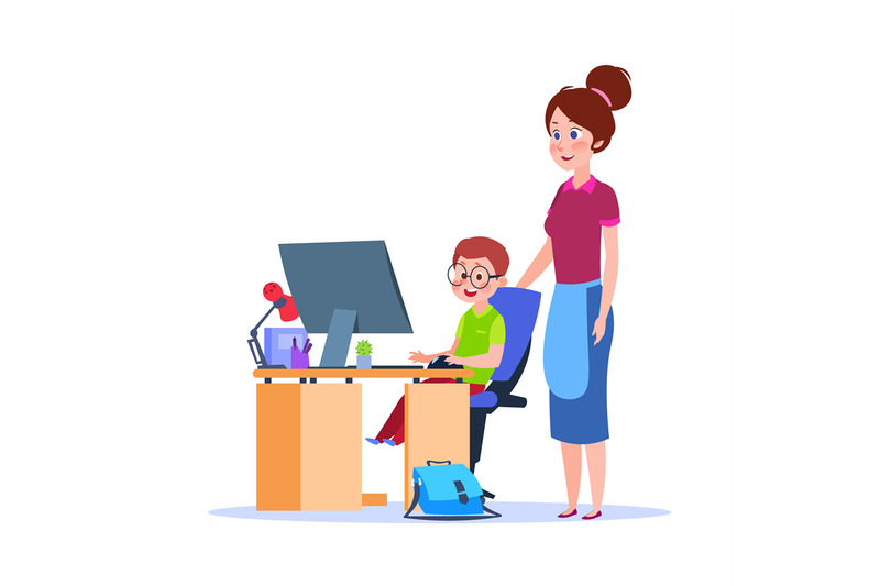 mother-and-child-at-computer-mom-helping-boy-with-homework-cartoon-s