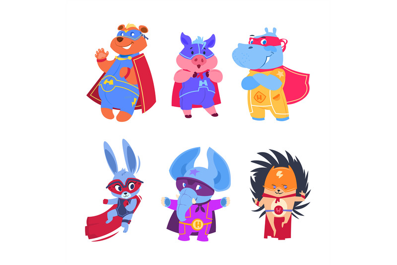 superhero-animals-baby-superheroes-vector-characters-set