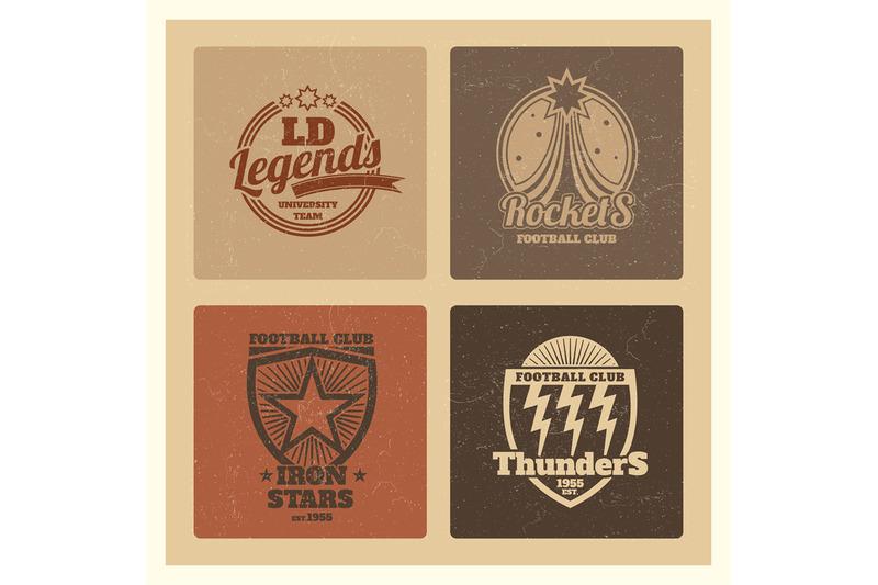 grunge-college-athletic-labels-varsity-emblems-vintage-sports-teams