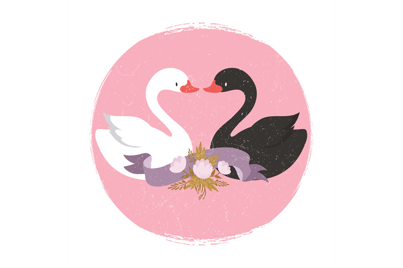 white-and-black-swans-character-swans-in-love-banner