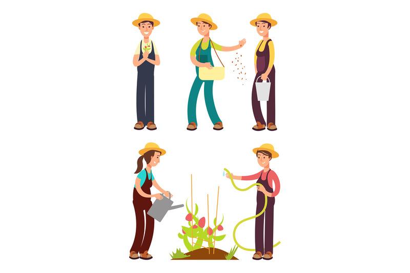 female-farmers-cartoon-vector-set-isolated-on-white
