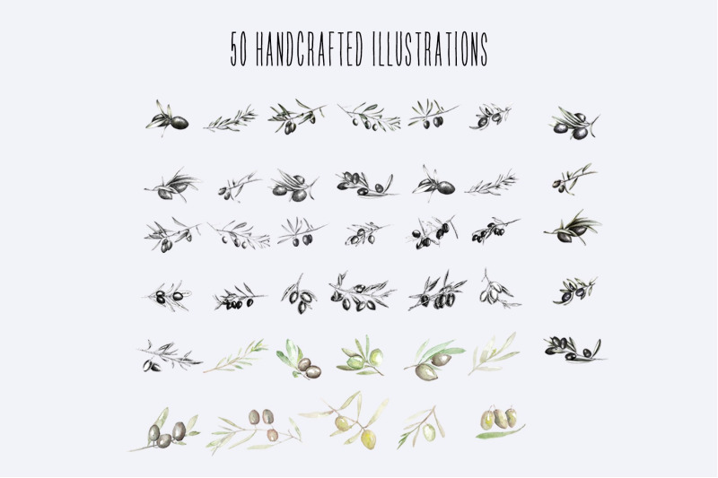 50-shades-of-olive-hand-drawn