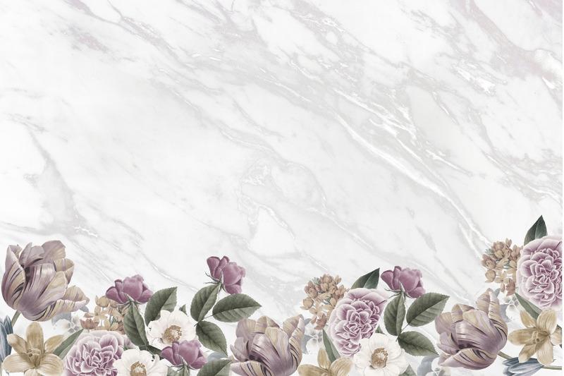 marble-flowers-digital-paper