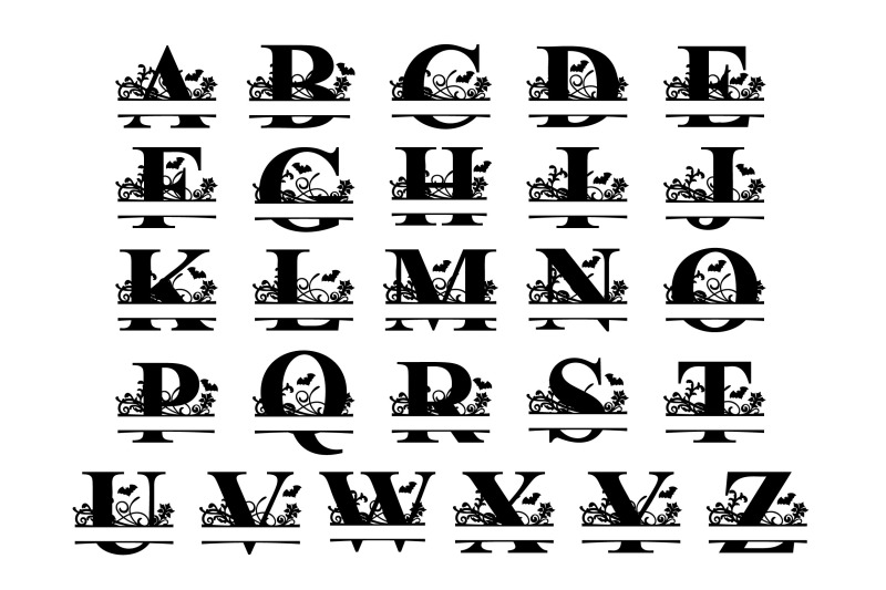 halloween-split-letter-a-z-svg-cut-files