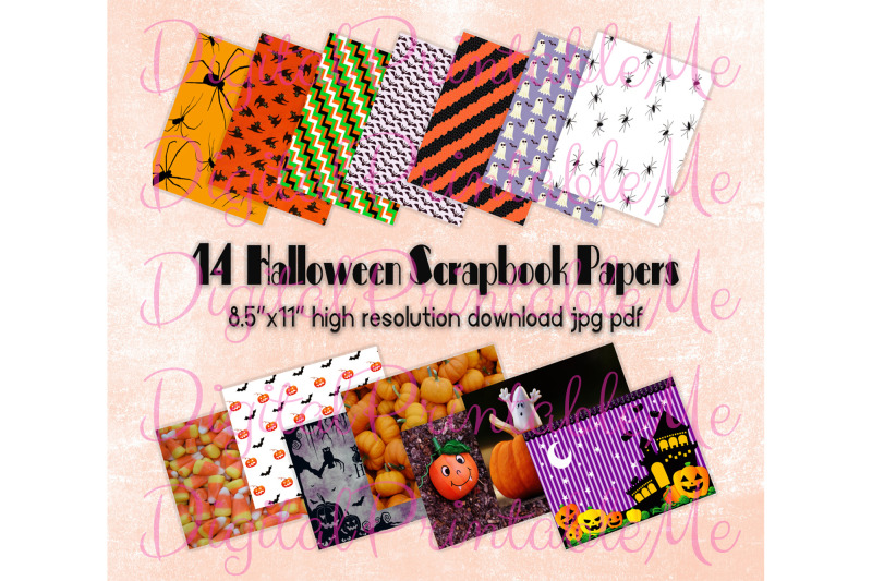 halloween-digital-papers-pages-scrapbook-paper-pack-of-14-printable-i
