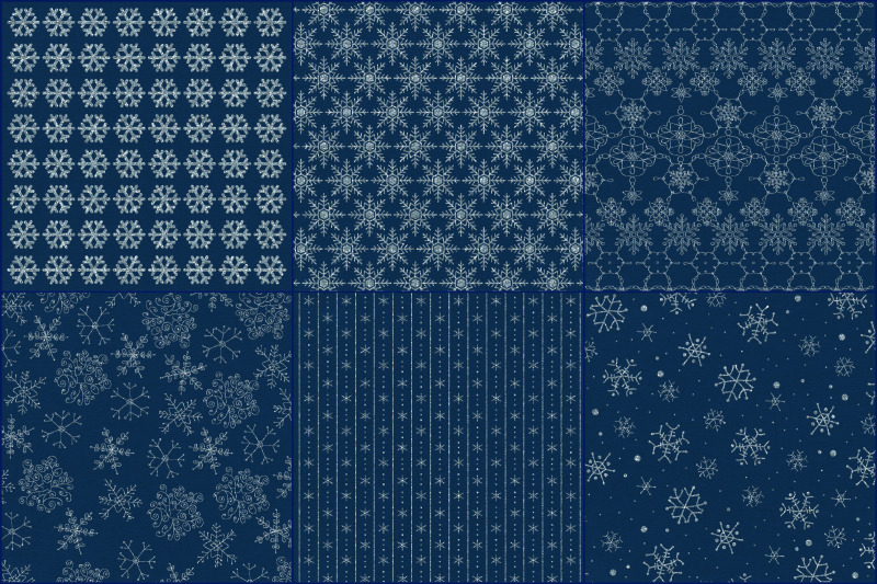 glitter-snowflakes-at-night-digital-papers