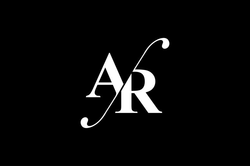 ar-monogram-logo-design