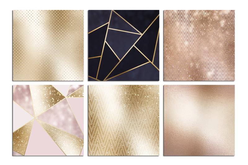 christmas-rose-gold-foil-textures